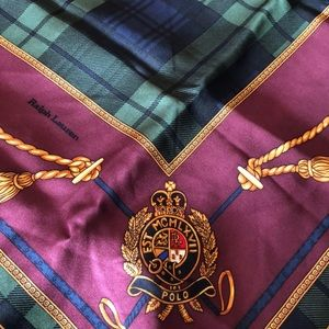 Ralph Lauren polo silk scarf